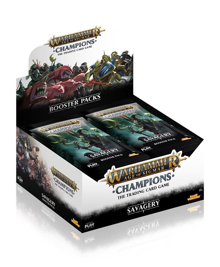 Warhammer Age of Sigmar: Champions Wave 3: Savagery Booster Display (24) english