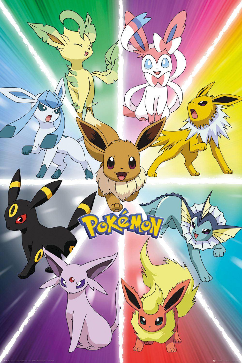 Pokémon Poster Pack Eevee Evolution 61 x 91 cm (5)