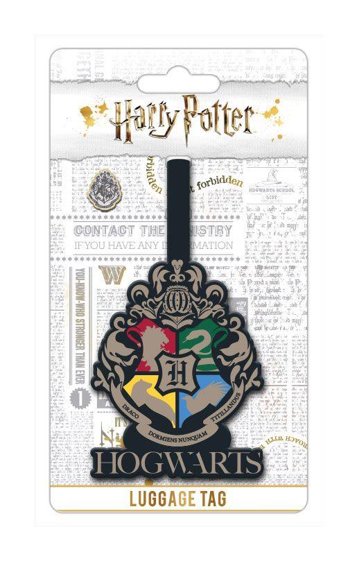 Harry Potter Rubber Luggage Tag Hogwarts Crest