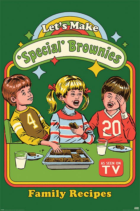 Steven Rhodes Poster Pack Let's Make Special Brownies 61 x 91 cm (5)