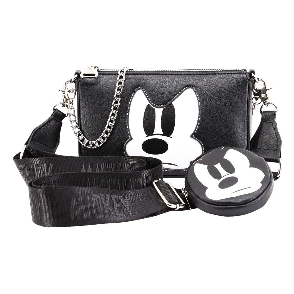 Disney IHoney Shoulder Bag & Cookie Mini Purse Mickey Mouse Angry Face