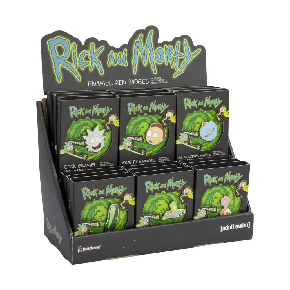 Rick & Morty Enamel Pin Display (18)