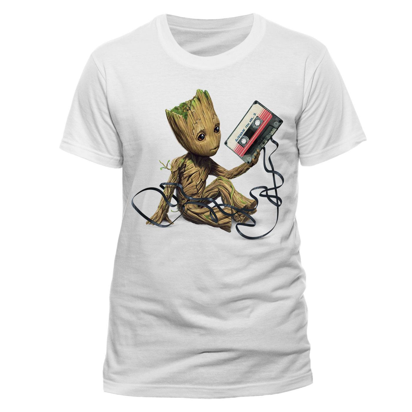 Guardians of the Galaxy 2 T-Shirt Groot & Tape Size M