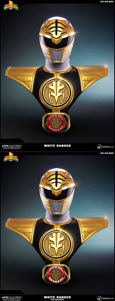 Power Rangers Busts 1/1 White Ranger & White Ranger PCS Exclusive Set 63 cm (2)