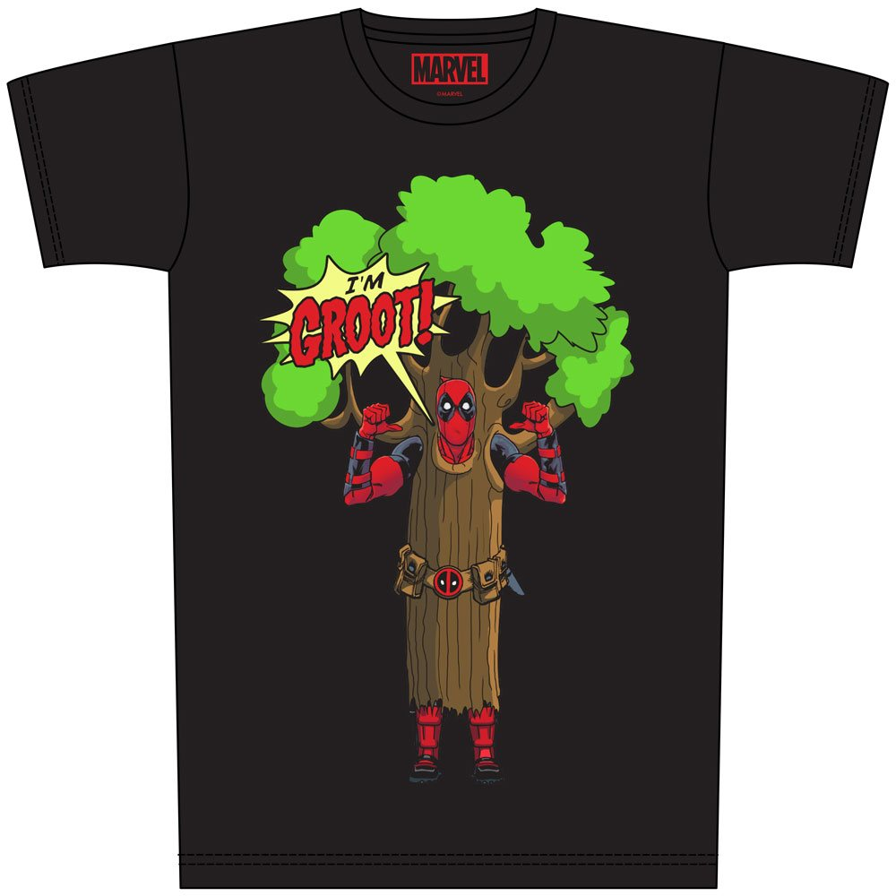 Deadpool T-Shirt I am Groot Size L