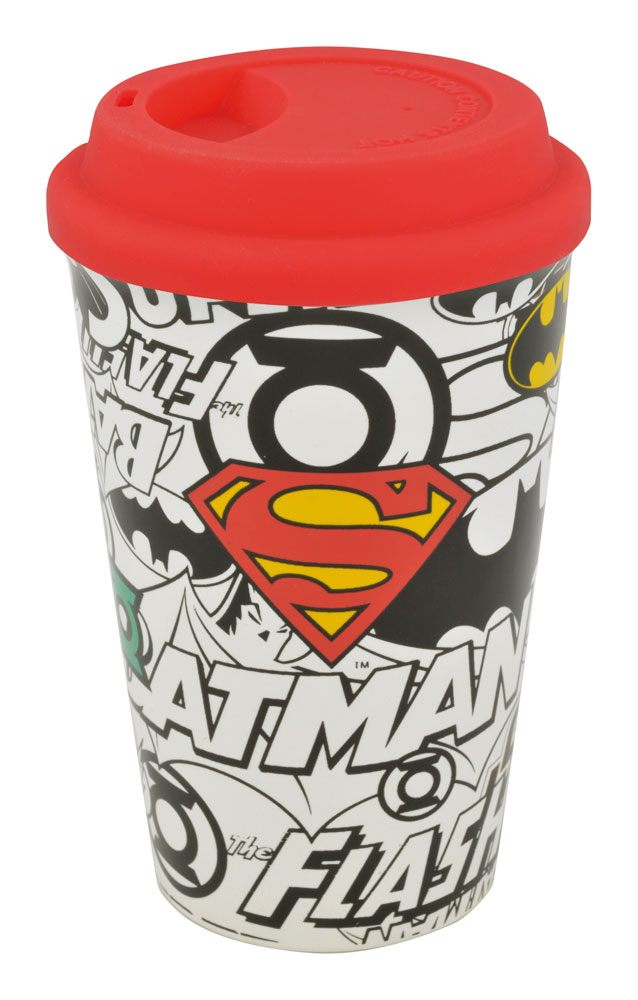 Justice League Travel Mug Logos