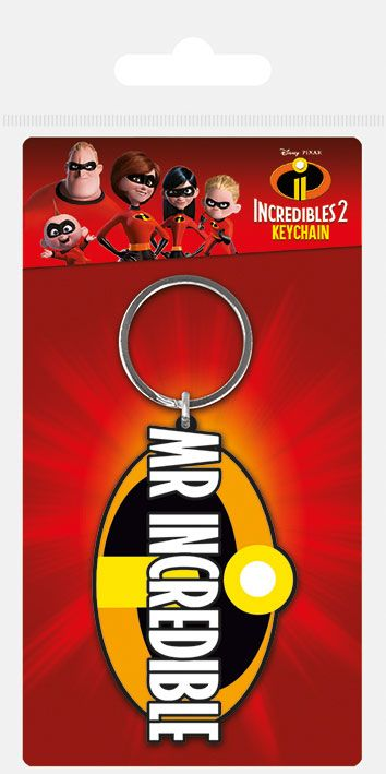 The Incredibles 2 Rubber Keychain Mr. Incredible 6 cm