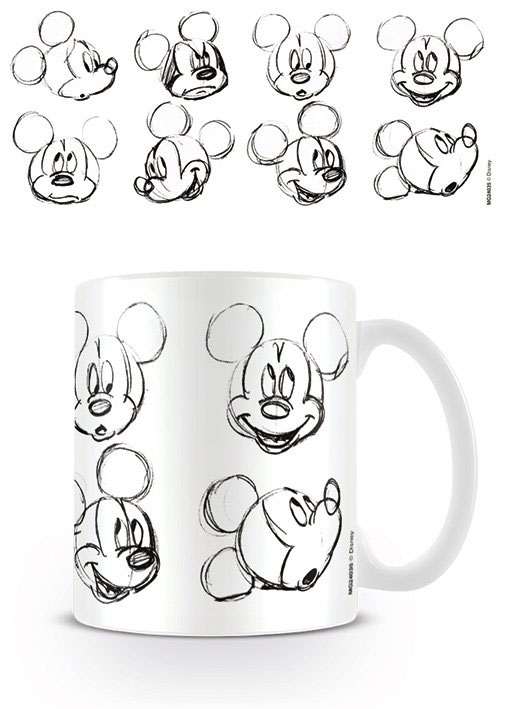 Mickey Mouse Mug Sketch Faces