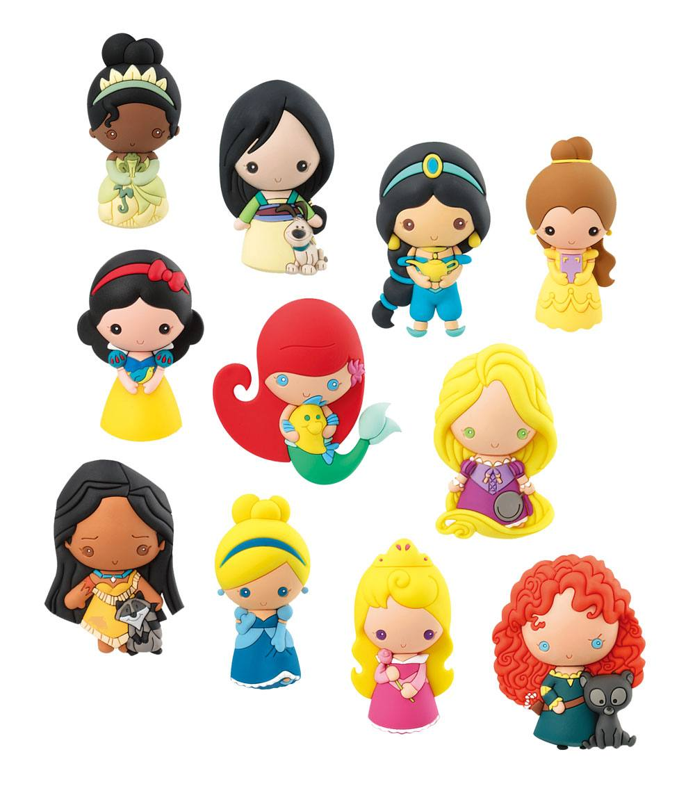 Disney 3D Rubber Keychain Series 9 Display (24)