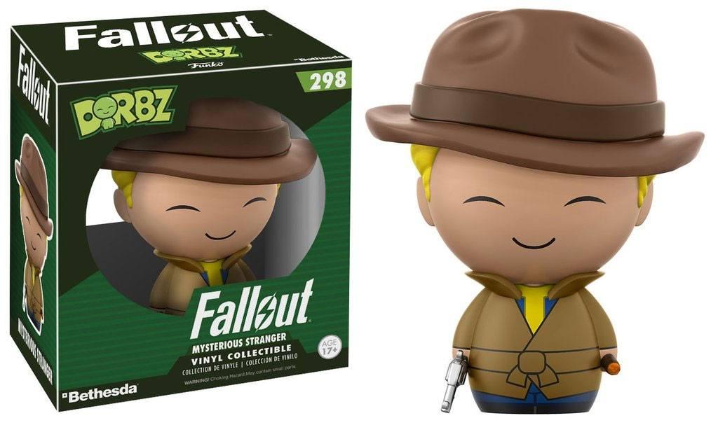 Fallout Vinyl Sugar Dorbz Vinyl Figure Vault Boy Mysterious Stranger 8 cm