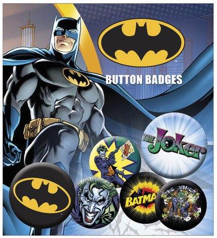 DC Comics Pin Badges 6-Pack Batman & Joker
