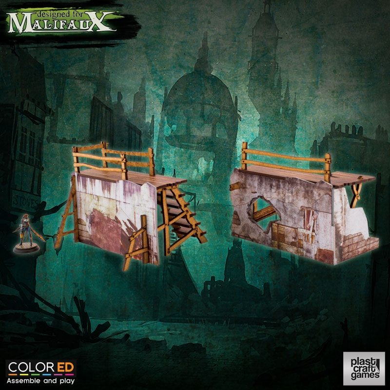 Malifaux ColorED Miniature Gaming Model Kit 32 mm Old Town Barricades