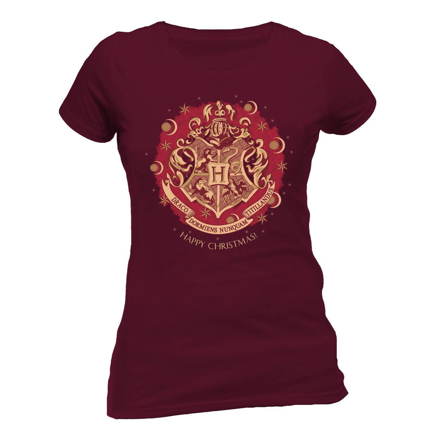 Harry Potter Ladies T-Shirt Happy Christmas Size S
