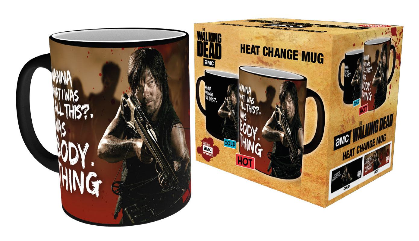 Walking Dead Heat Change Mug Daryl Zombies