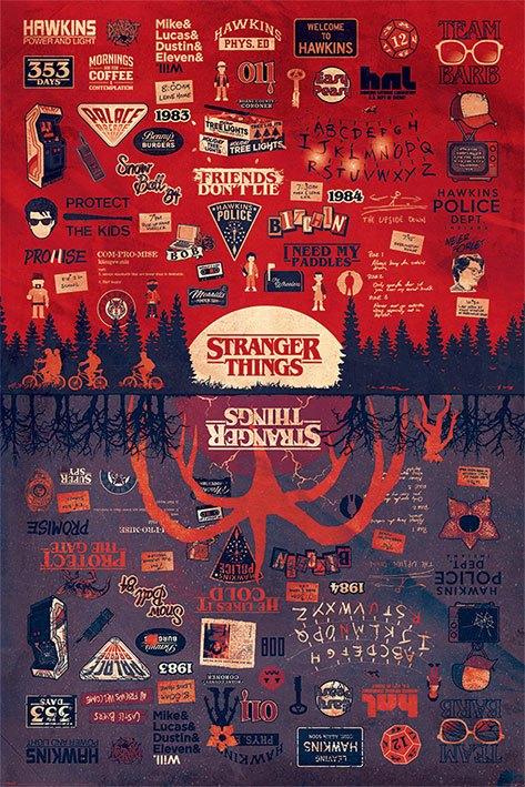 Stranger Things Poster Pack The Upside Down 61 x 91 cm (5)
