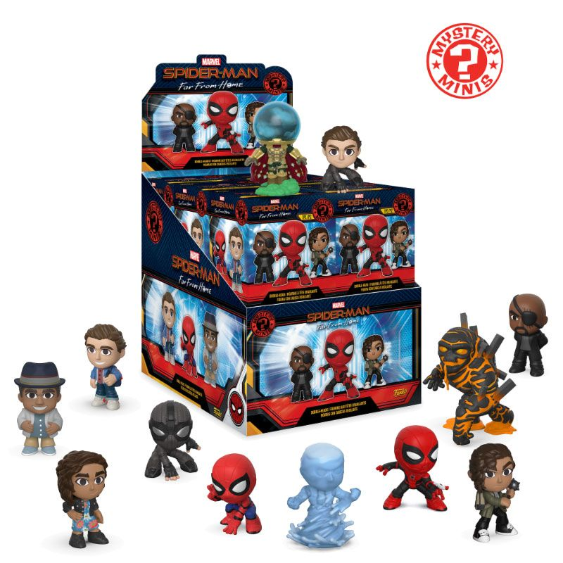 Spider-Man: Far From Home Mystery Minis Vinyl Mini Figures 6 cm Display (12)