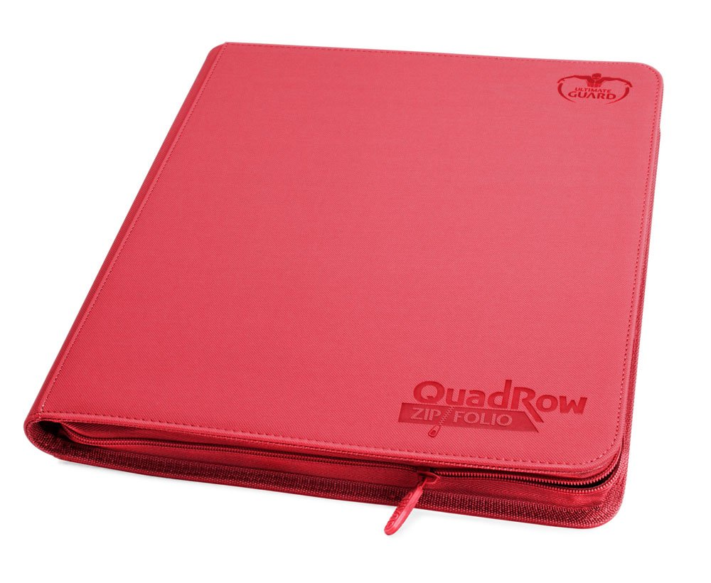 Ultimate Guard 12-Pocket QuadRow ZipFolio XenoSkin Red