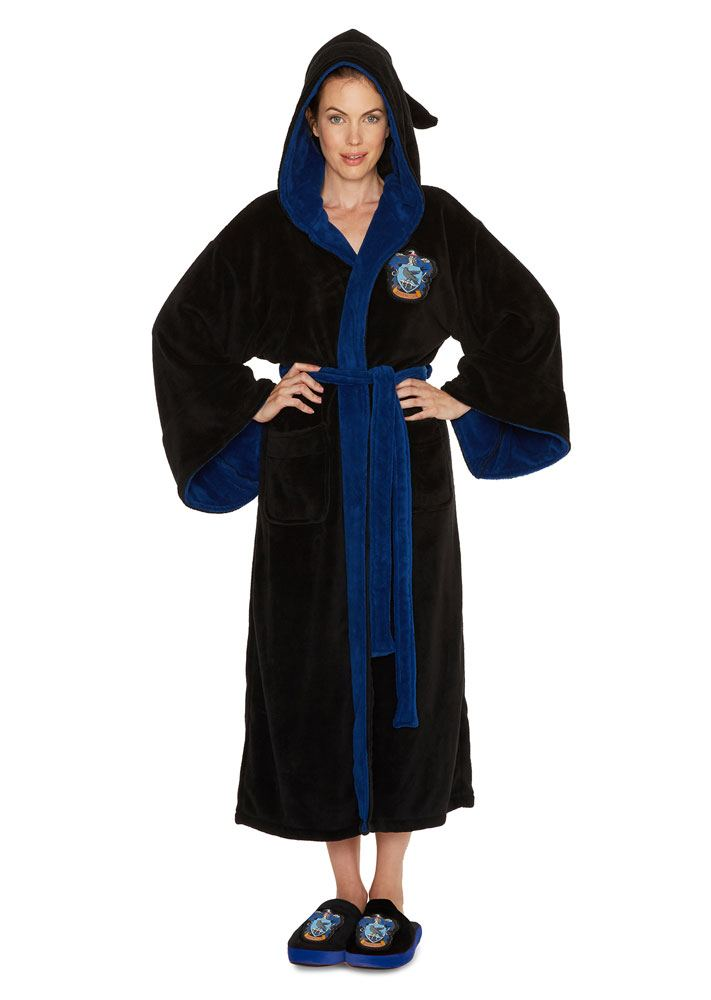 Harry Potter Ladies Fleece Bathrobe Ravenclaw