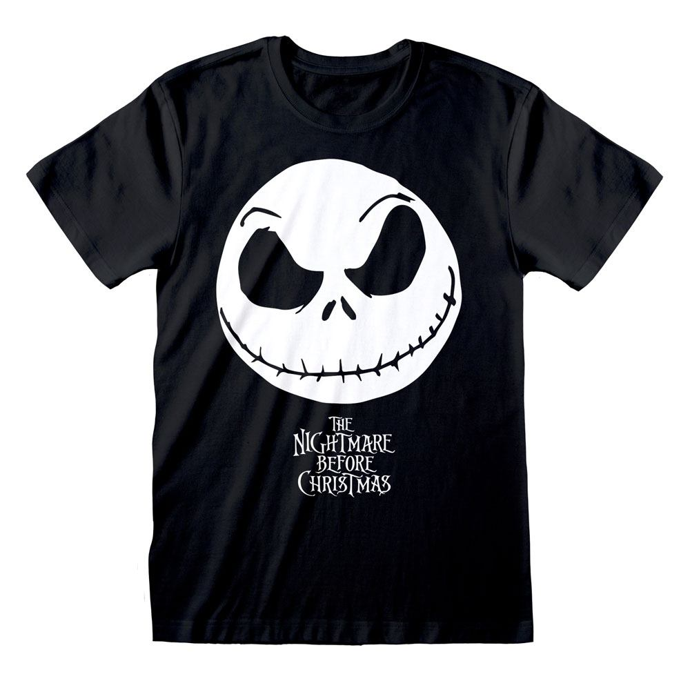 Nightmare before Christmas T-Shirt Jack Face & Logo Size S