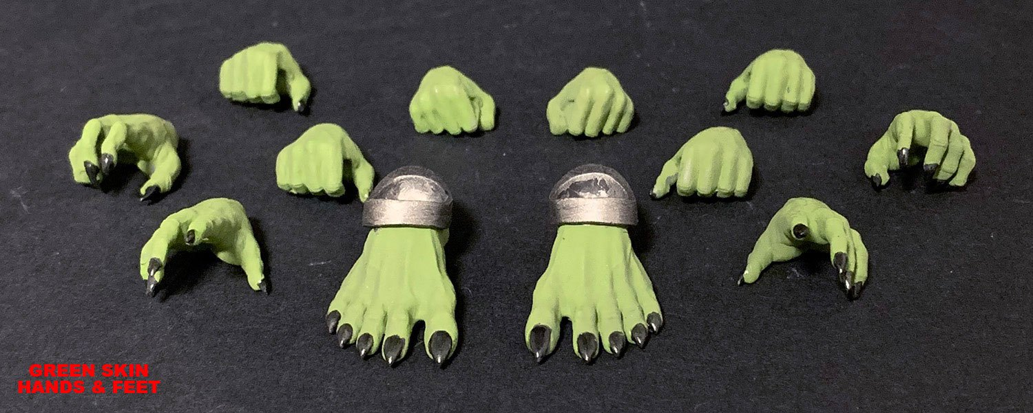 Mythic Legions: Arethyr Action Figure Accessory Green Skin Hands & Feet