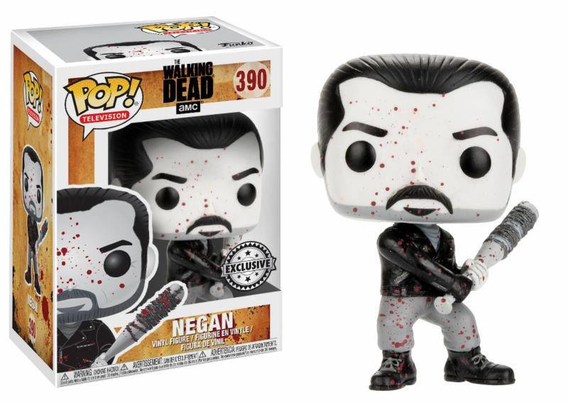 Walking Dead POP! Television Vinyl Figure Black & White Negan 9 cm