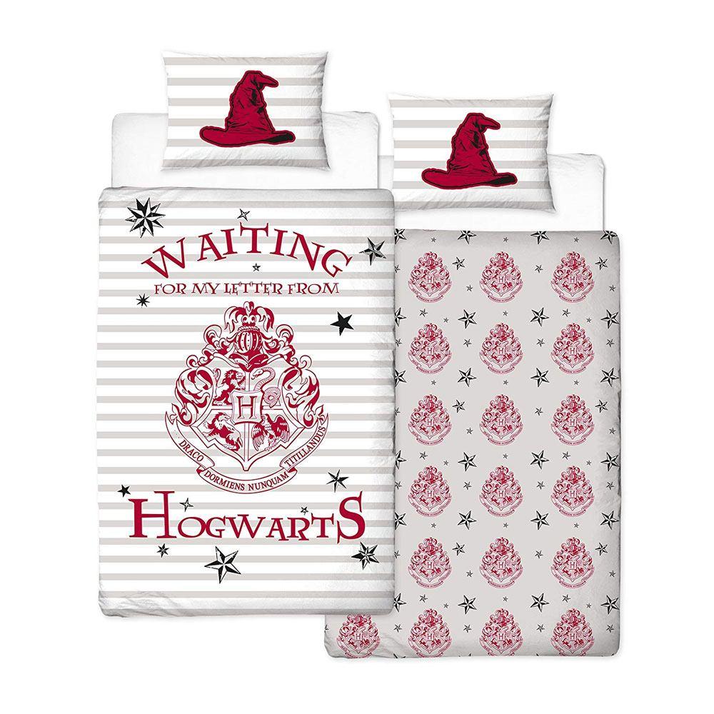 Harry Potter Duvet Set Reversible Letters 135 x 200 cm / 48 x 74 cm