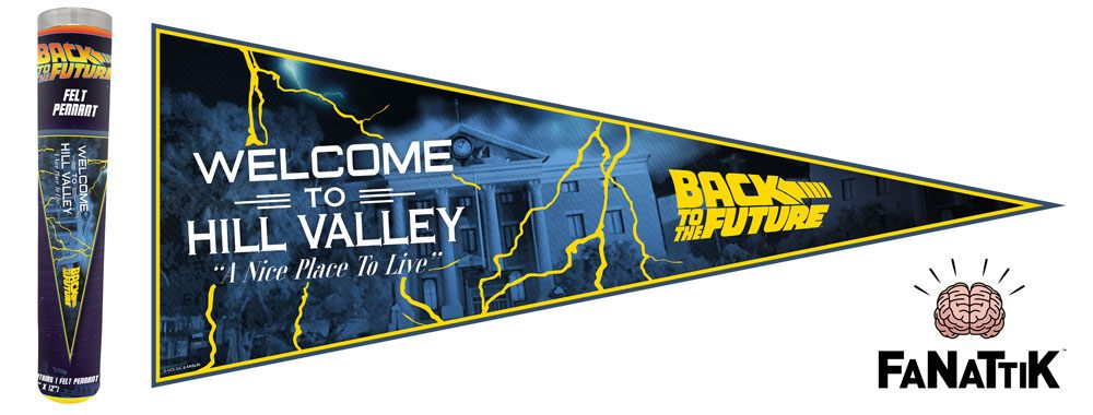 Back to the Future Felt Pennant Welcome To Hill Valley