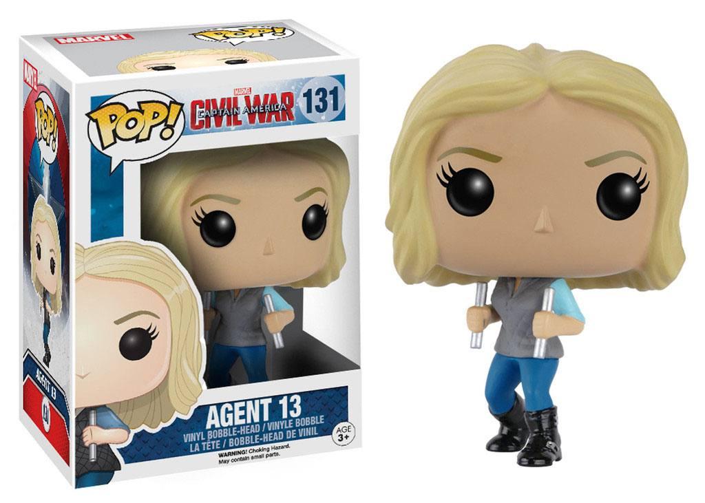 Captain America Civil War POP! Vinyl Bobble-Head Agent 13 10 cm