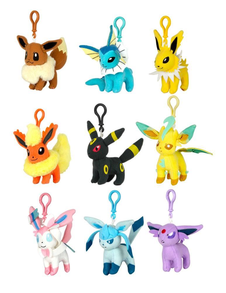 Pokemon Plush Keychains 9 cm Assortment Eeveelution (9)