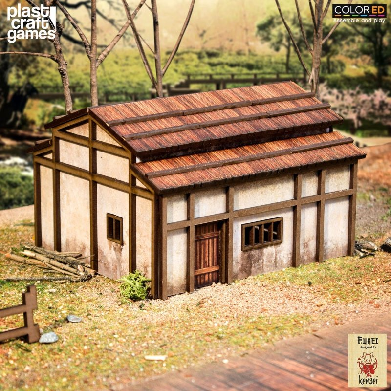 Kensei ColorED Miniature Gaming Model Kit 28 mm Nomin House