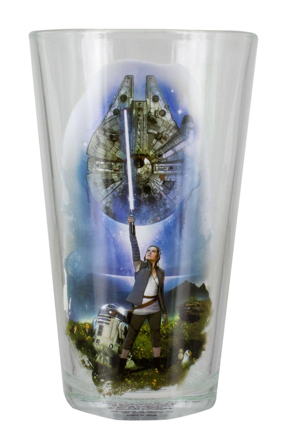 Star Wars Episode VIII Pint Glass Rey & Falcon