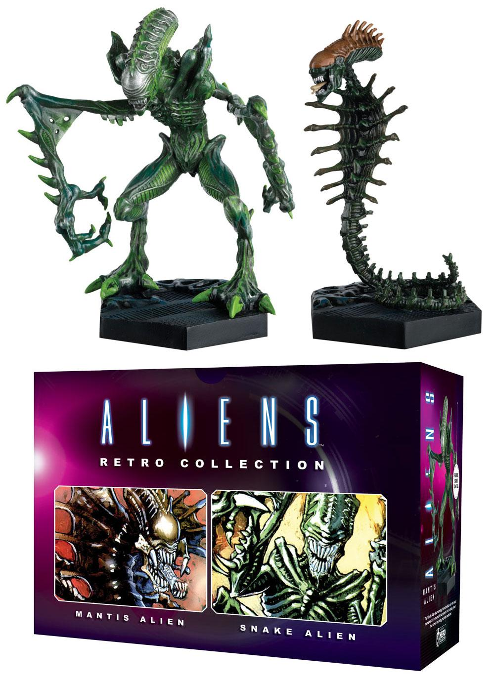 Aliens Retro Collection Figure 2-Pack Mantis Alien & Snake Alien 13 cm --- DAMAGED PACKAGING