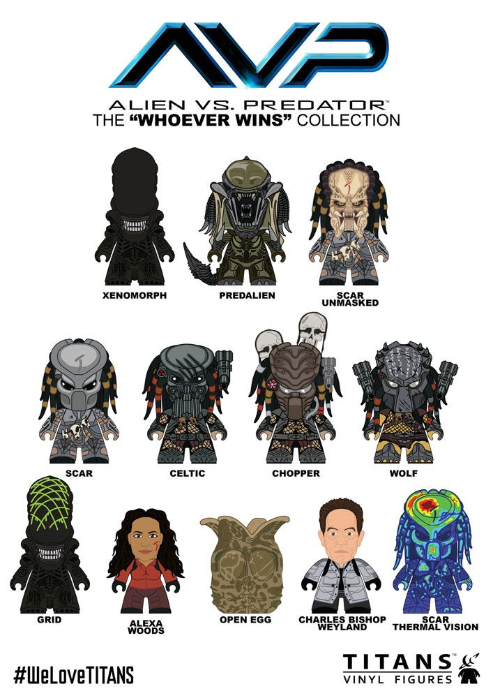 Alien vs Predator Trading Figure Whoever Wins Collection Titans Display 8 cm (20)