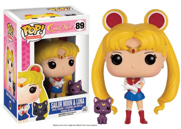 Sailor Moon POP! Animation Vinyl Figure Sailor Moon & Luna 9 cm