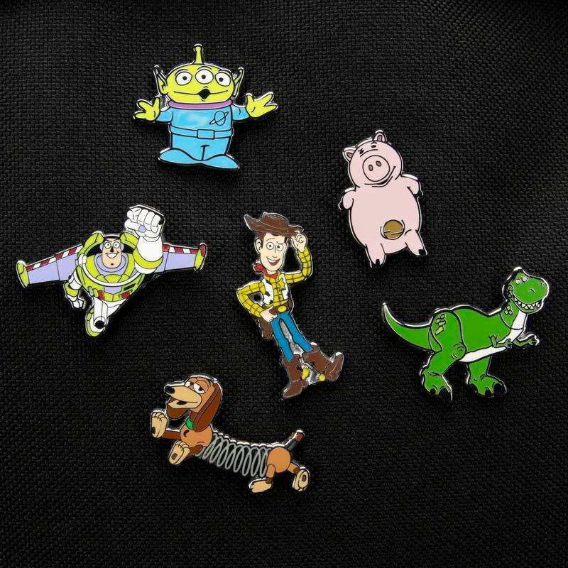 Toy Story Enamel Label Pin Set 6-Pack