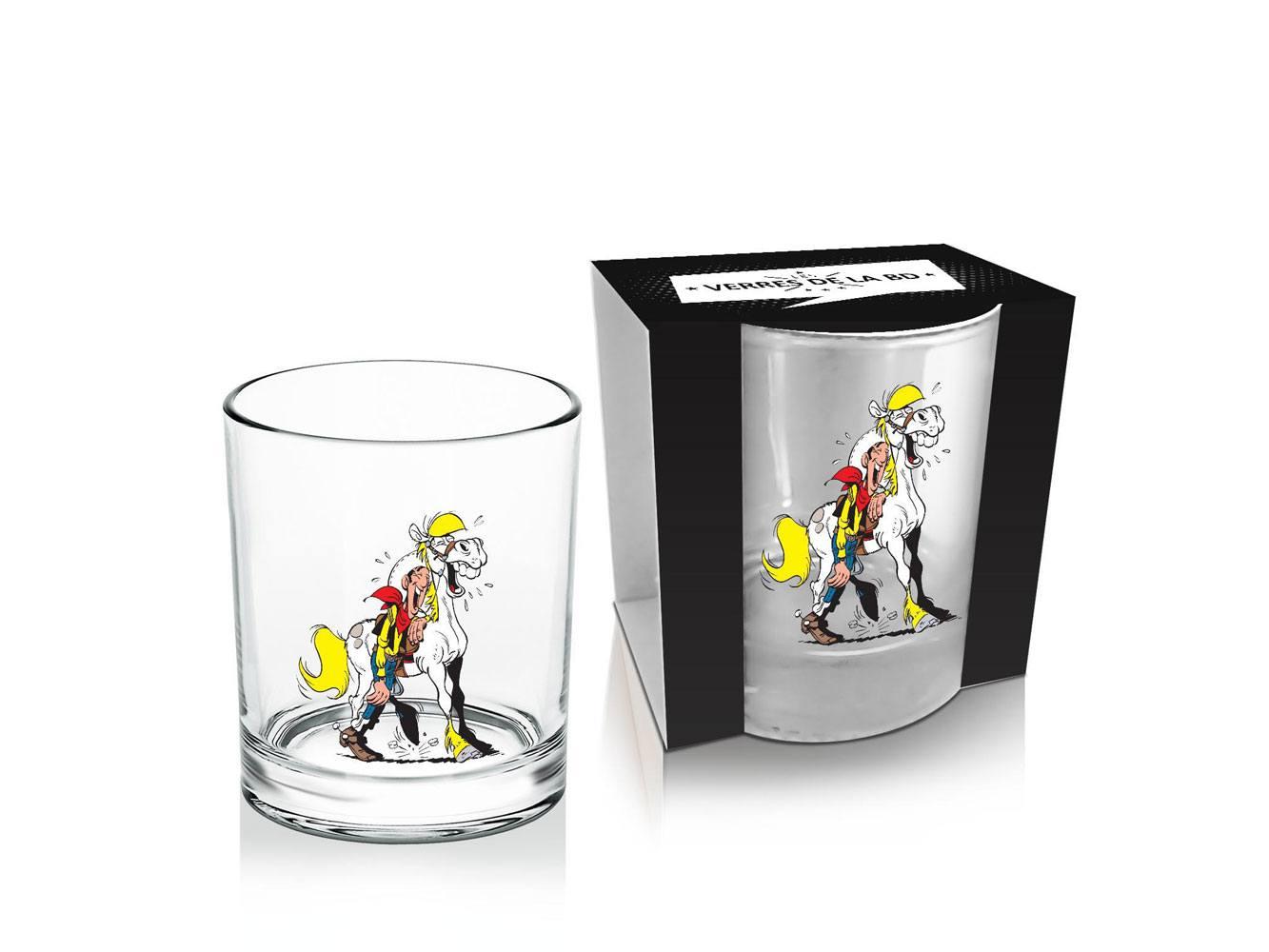 Lucky Luke Whisky Glass Luke & Jolly Jumper #2