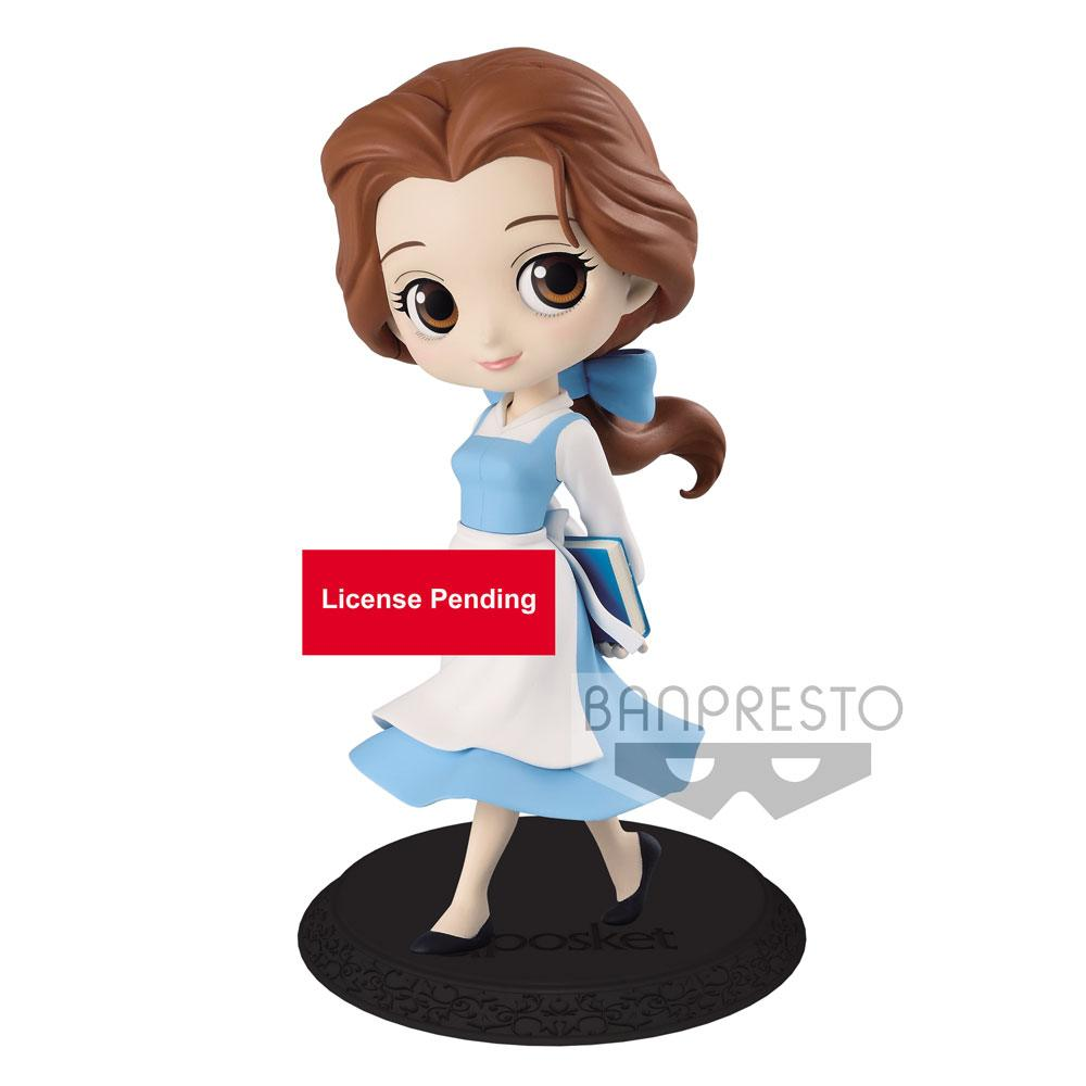 Disney Q Posket Mini Figure Belle Country Style B 14 cm