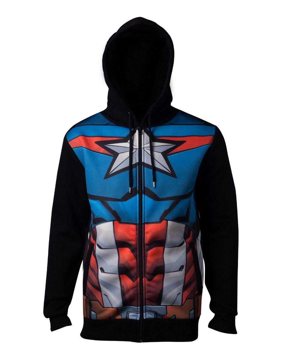 Avengers Hooded Sweater Captain America Size L