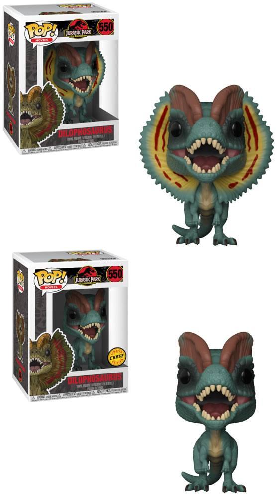 Jurassic Park POP! Movies Vinyl Figures 9 cm Dilophosaurus Assortment (6)
