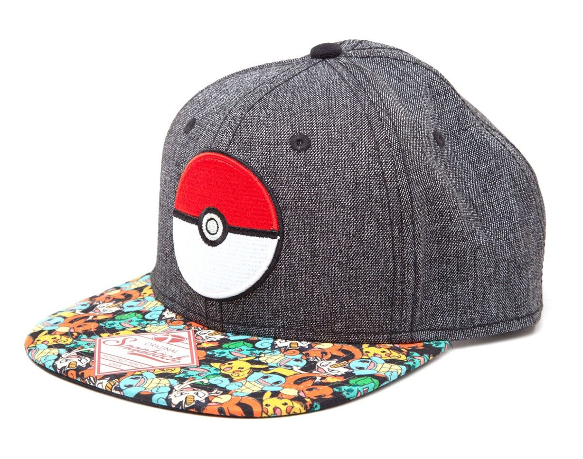 Pokemon Snap Back Baseball Cap Poke Ball