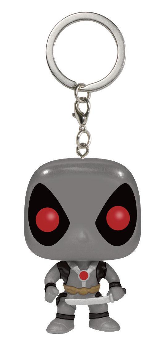Marvel Comics Pocket POP! Vinyl Keychain Deadpool X-Force Costume 4 cm