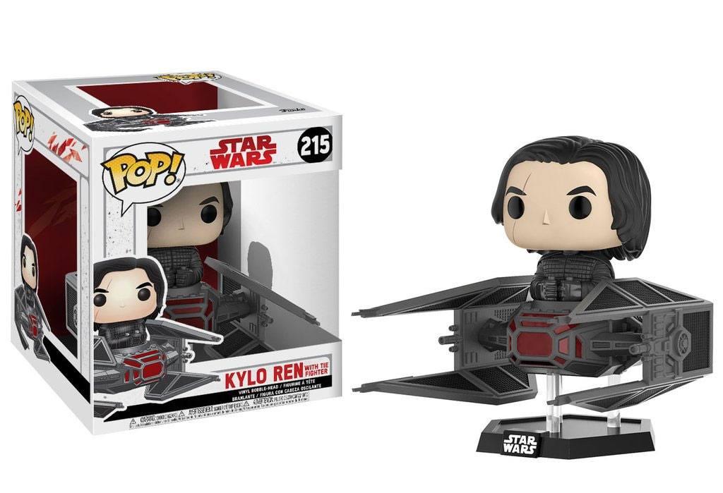 Star Wars Episode VIII POP! Vinyl Bobble-Head Kylo Ren on Tie Fighter 10 cm