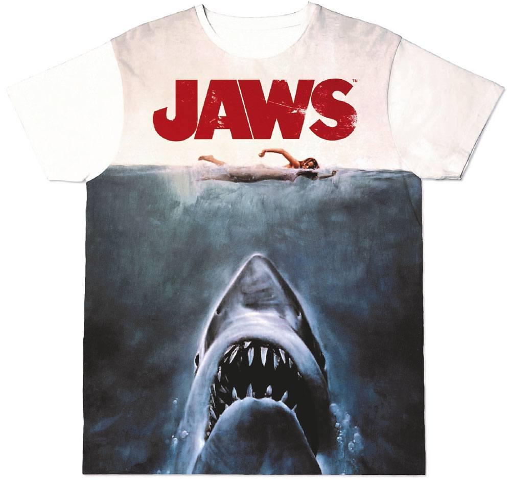 Jaws Sublimation T-Shirt Shark  Size L