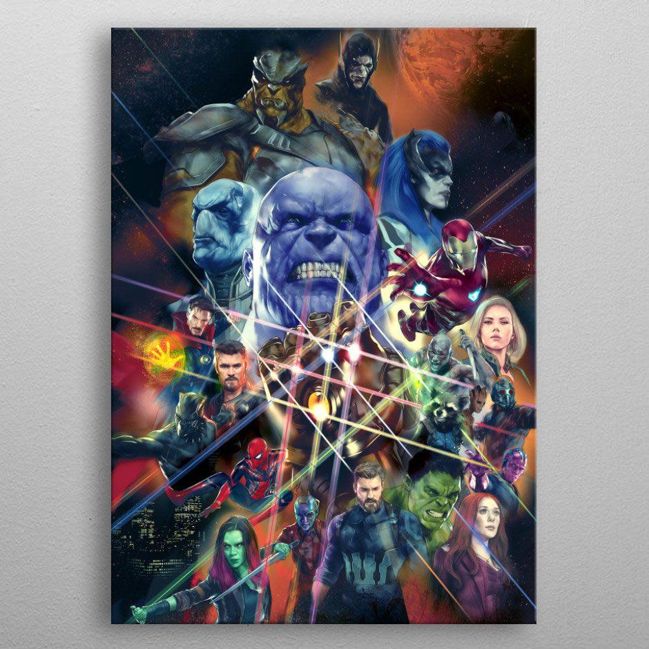 Marvel Metal Poster Infinity War Characters 32 x 45 cm