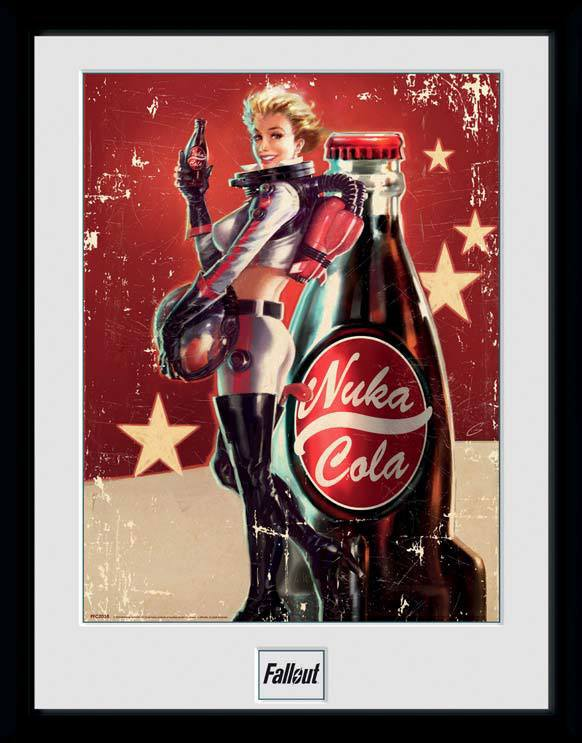 Fallout Framed Poster Nuka Cola 45 x 34 cm
