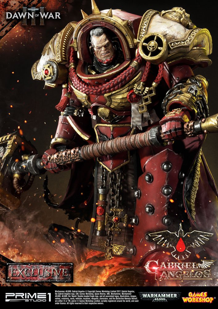 Warhammer 40K Dawn of War III Statues Gabriel Angelos Exclusive 83 cm Assortment (3)
