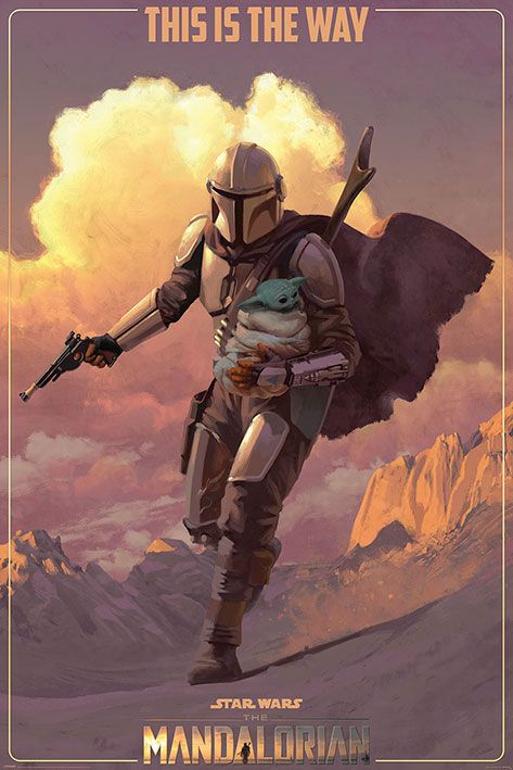 Star Wars The Mandalorian Poster Pack On The Run 61 x 91 cm (5)