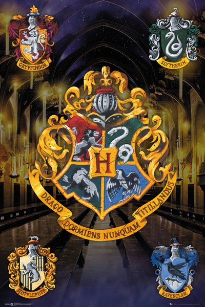 Harry Potter Poster Pack Crests 61 x 91 cm (5)