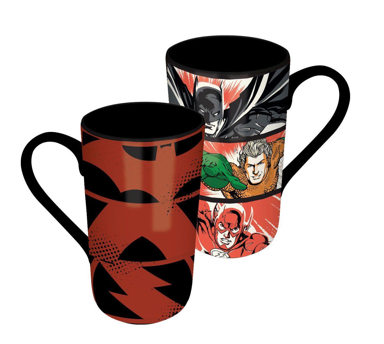 DC Comics Heat Change Latte-Macchiato Mug Justice League