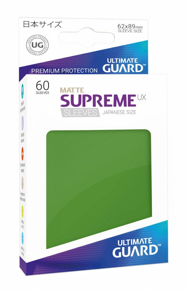 Ultimate Guard Supreme UX Sleeves Japanese Size Matte Green (60)